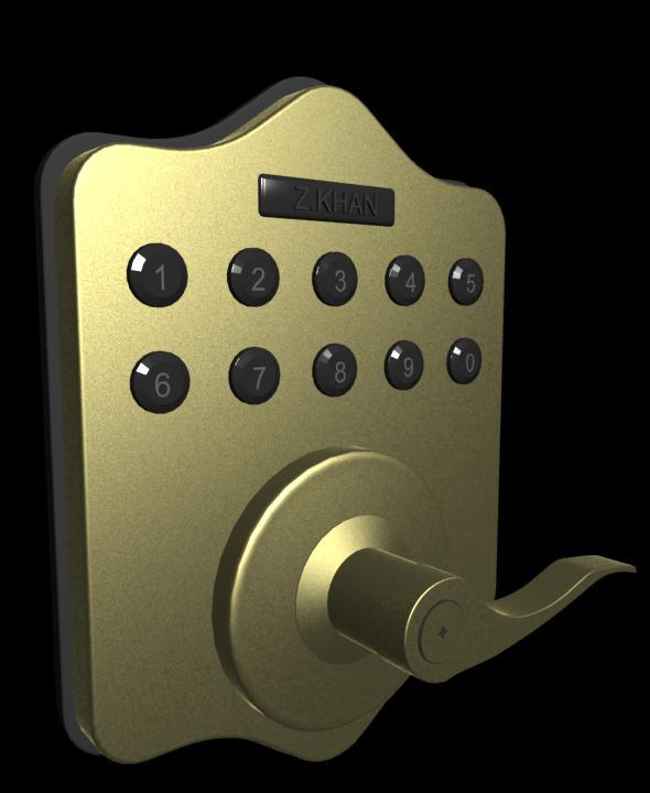 Digital Lock - 3DOcean Item for Sale