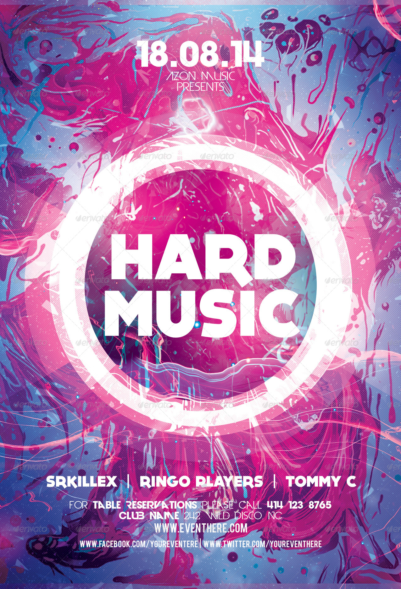 Hard Music Flyer Template by Xemrind – Music Flyer