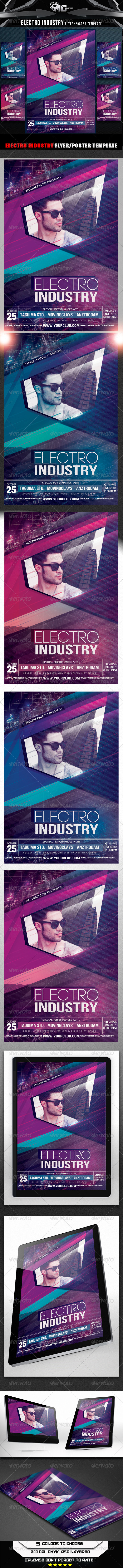 GraphicRiver Electro Industry Flyer Template 8680454