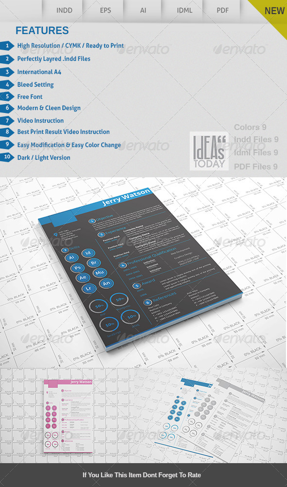 GraphicRiver Resume 8619756