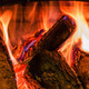 Old fireplace with a burning firewoods - PhotoDune Item for Sale