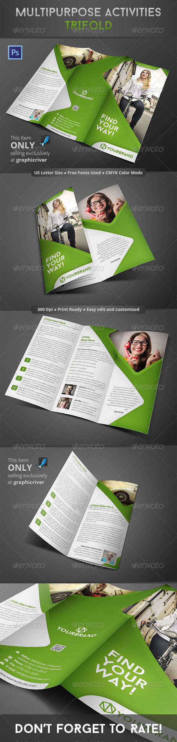GraphicRiver Multipurpose Activities Trifold 8680986