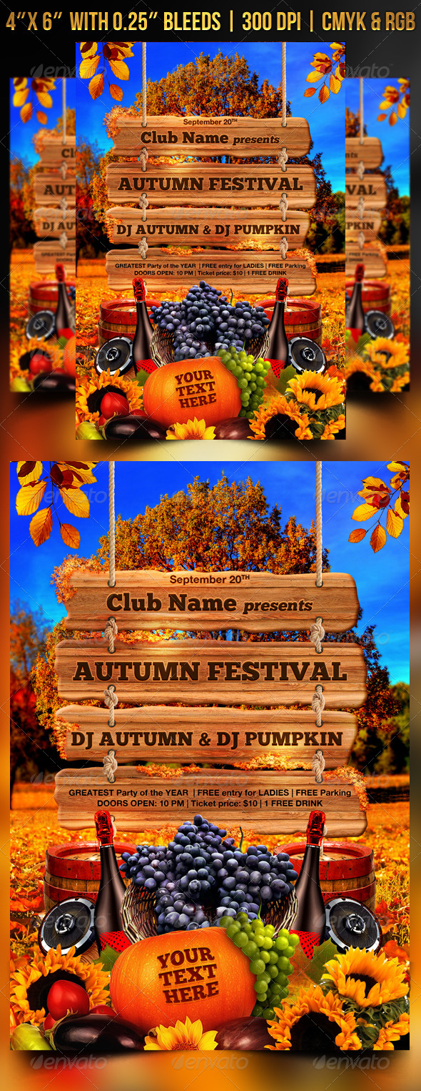 GraphicRiver Autumn Festival Flyer Template 8681030