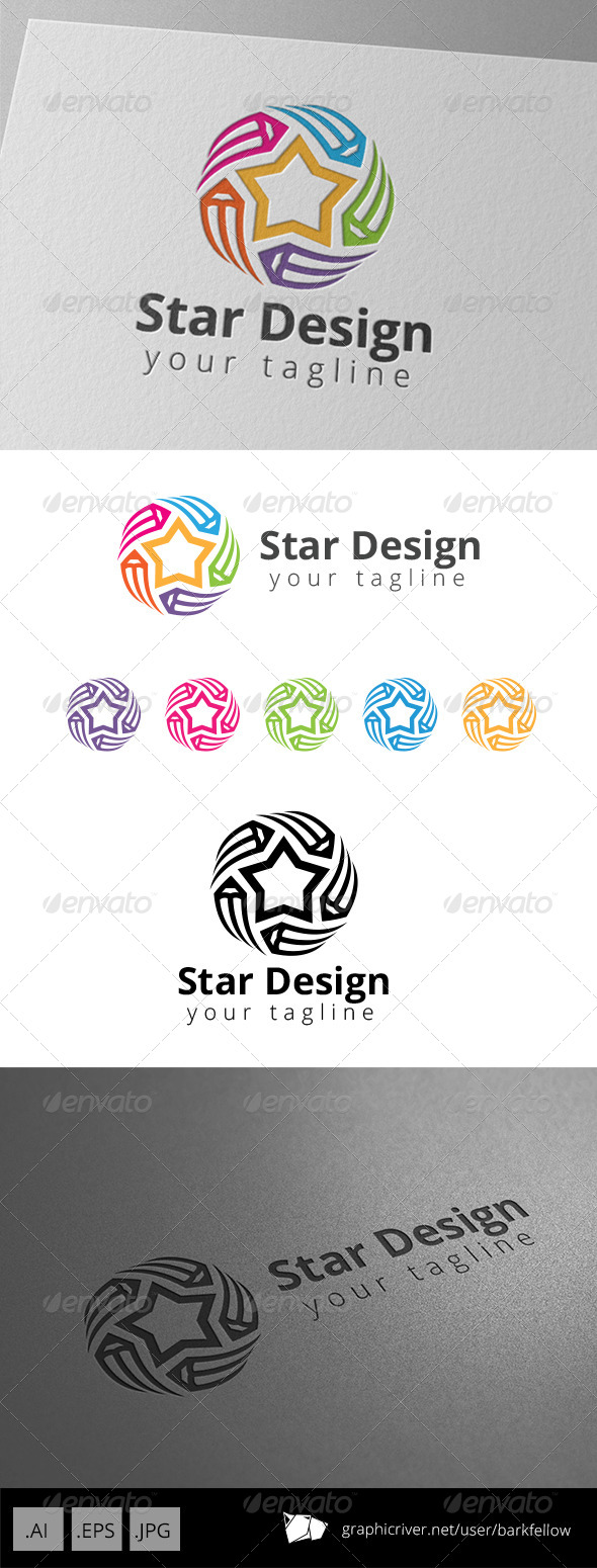 GraphicRiver Star Art Pencil Graphic Design Studio Logo 8681123
