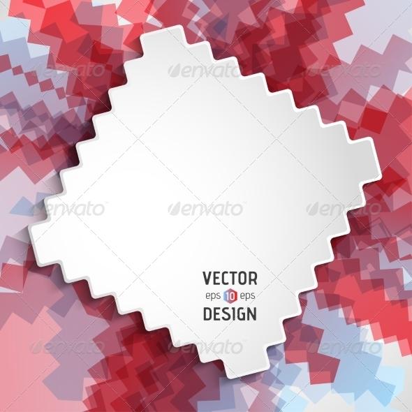 GraphicRiver Abstract White Text Design Box on Zigzag Line Patt 8681335