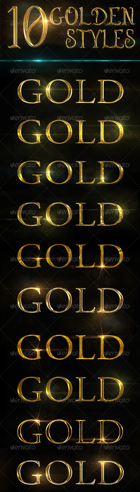 GraphicRiver Golden Text Effects 8681461