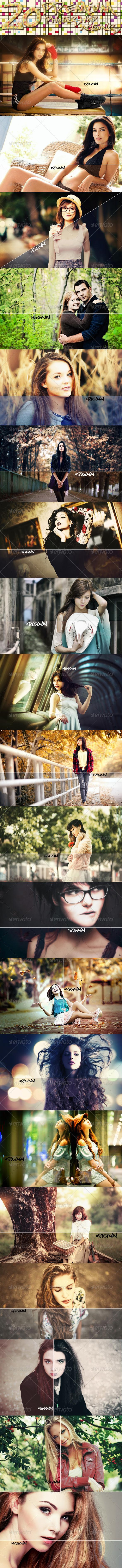 GraphicRiver 20 Premium Photoshop Actions 8681841