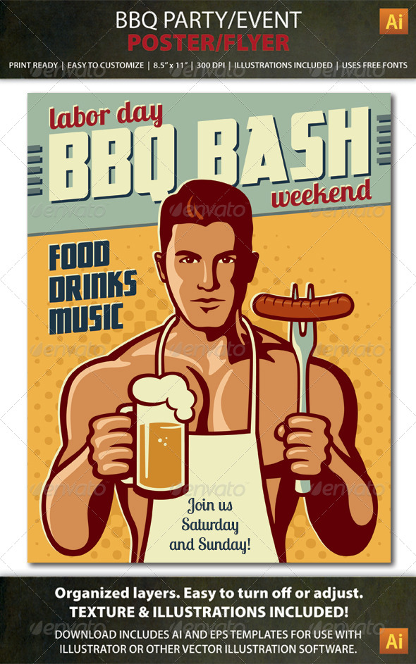 GraphicRiver BBQ Party Event Poster or Flyer 8681856