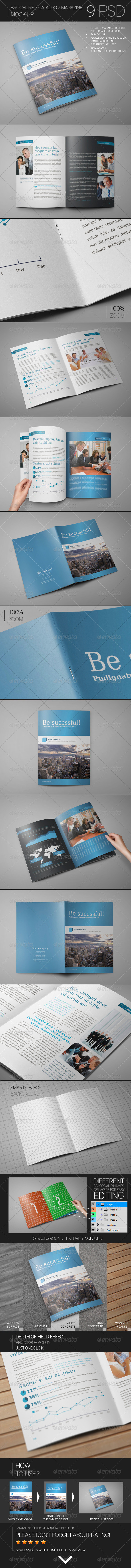 GraphicRiver Brochure Catalog Magazine Mock-Up 8681872
