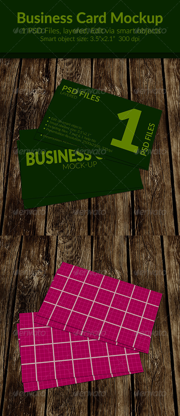 GraphicRiver Business Card Mock-Up SS-15 8682117