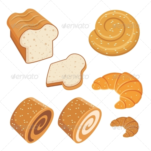 GraphicRiver Set of Loaves and Bread 8682681