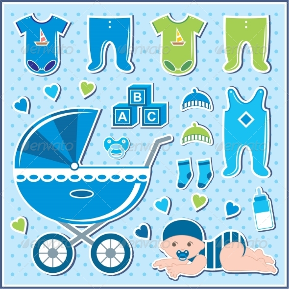 GraphicRiver Set of Baby Boy Icons 8682683