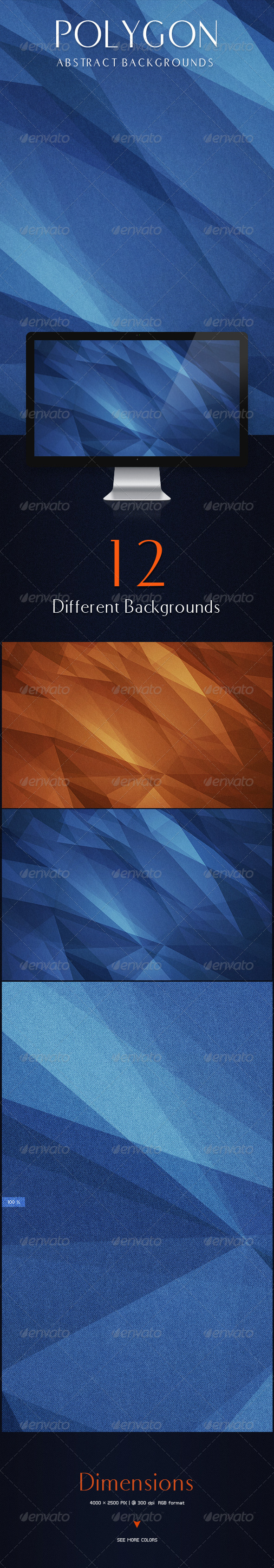 GraphicRiver Polygon Abstract Backgrounds 8682747