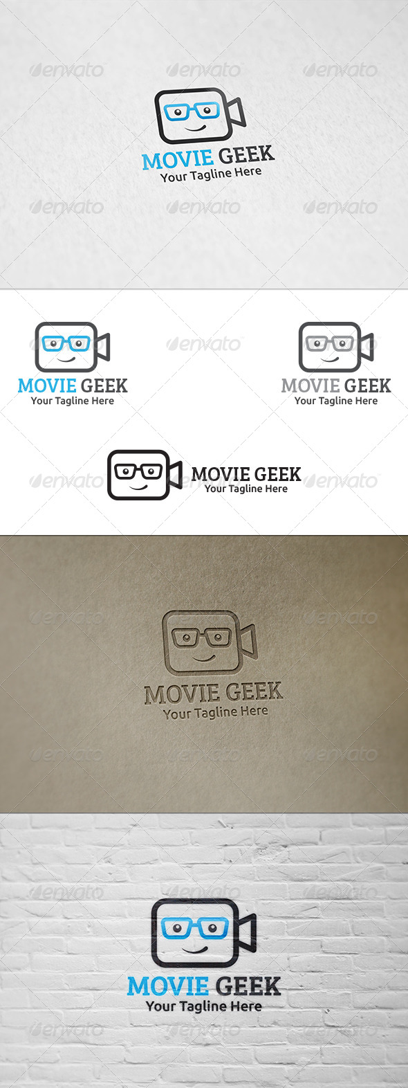 GraphicRiver Movie Geek Logo Template 8682847