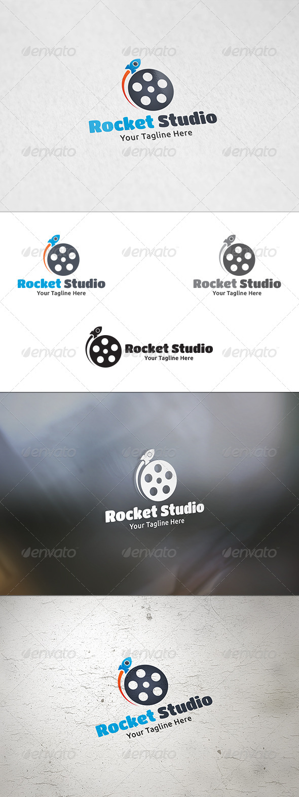 GraphicRiver Rocket Studio Logo Template 8683257