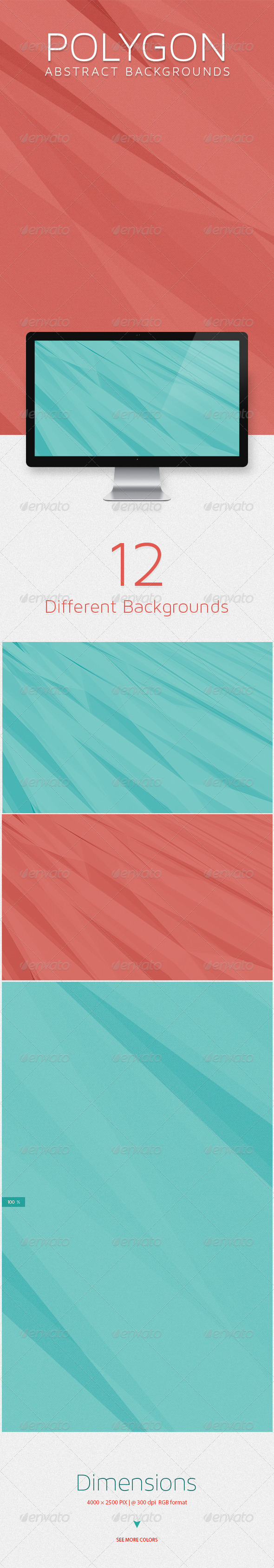 GraphicRiver Polygon Abstract Backgrounds 8683274