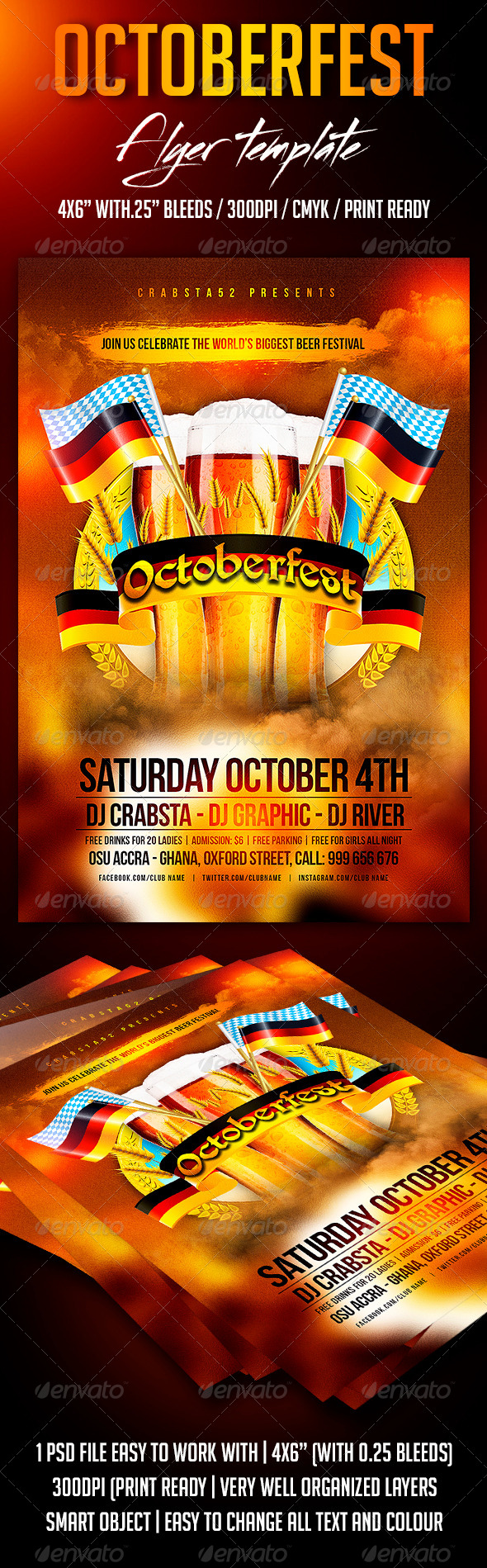 GraphicRiver Octoberfest Flyer Template 8683284