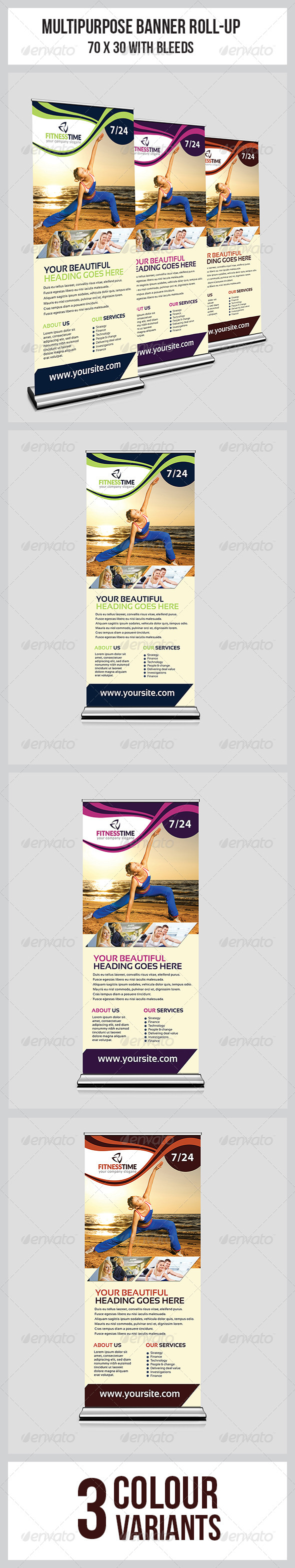 GraphicRiver Fitness Roll Up Banner 8683286