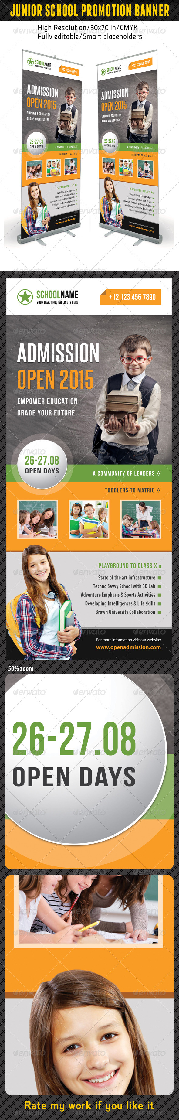 GraphicRiver Junior School Promotion Banner Template 10 8683344