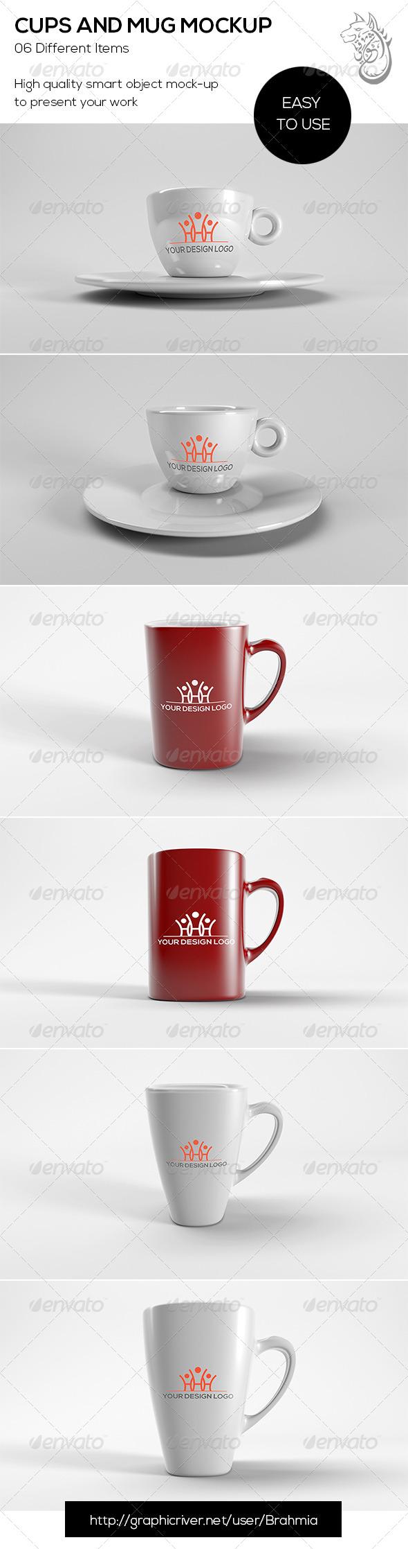 GraphicRiver Cups And Mug Mockup 8683470