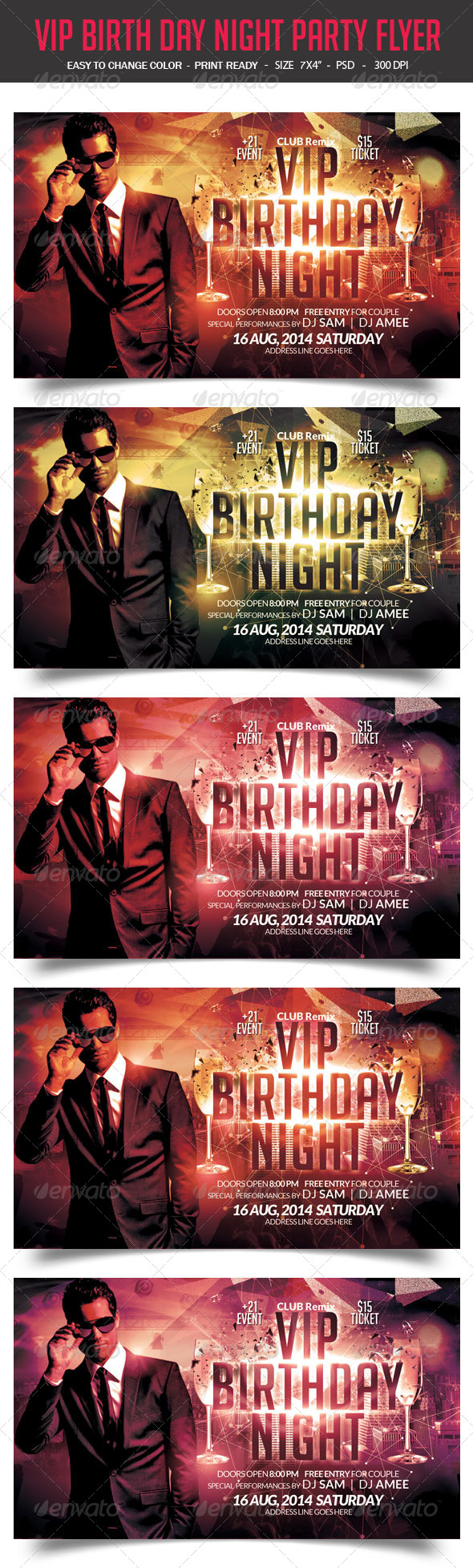 GraphicRiver VIP Birthday Flyer 8683847