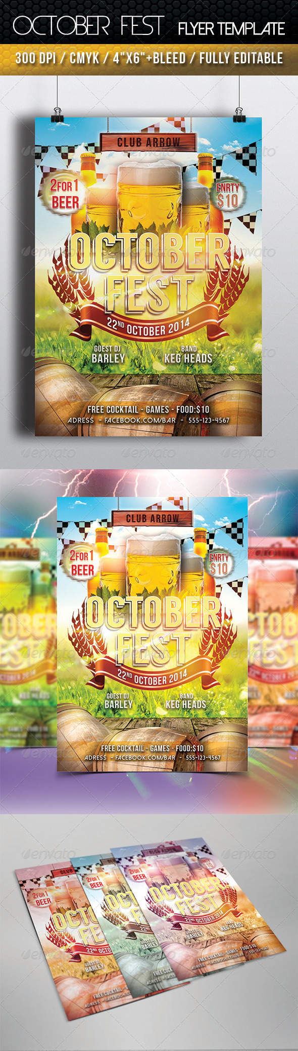 GraphicRiver October Fest Flyer Template 8684313