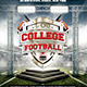 College Football Flyer Template - No Model Needed - GraphicRiver Item for Sale