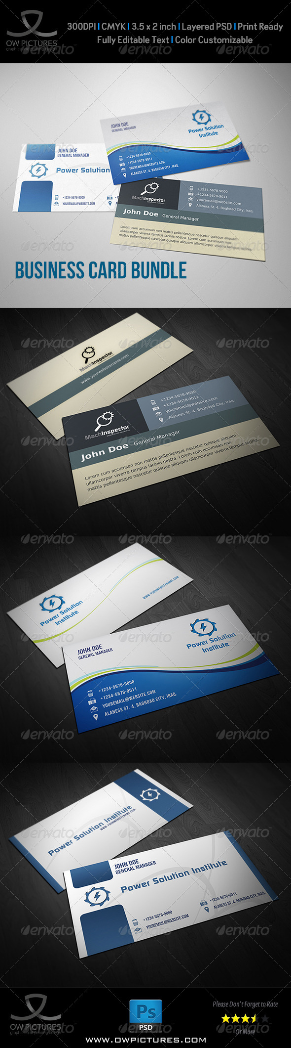 GraphicRiver Corporate Business Card Bundle Vol.3 8680990