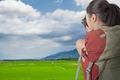 backpacker take photo - PhotoDune Item for Sale