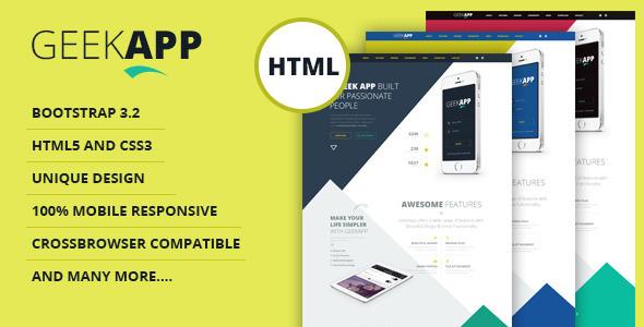ThemeForest GeekApp Creative App Landing Page 8639654