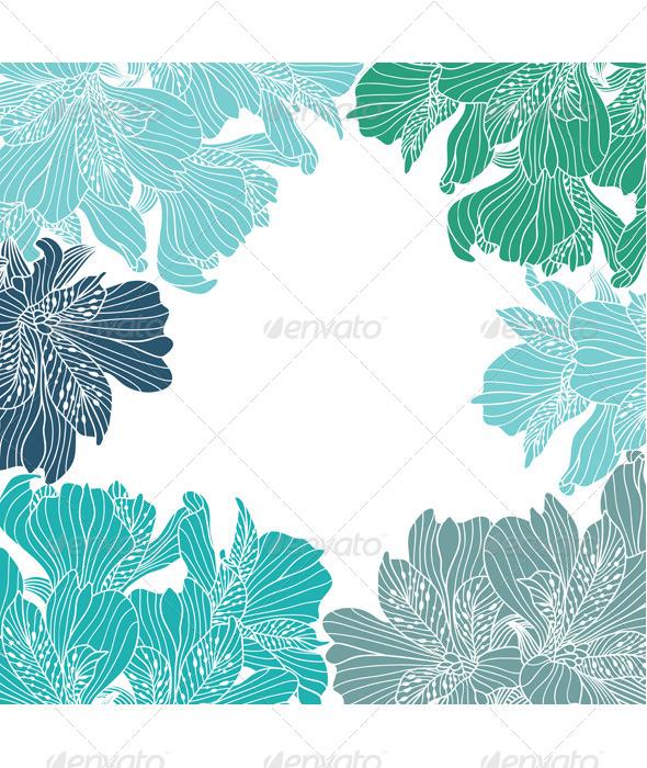 GraphicRiver Alstroemeria Flower Frame 8684868