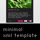 Minimal Xml Template - ActiveDen Item for Sale