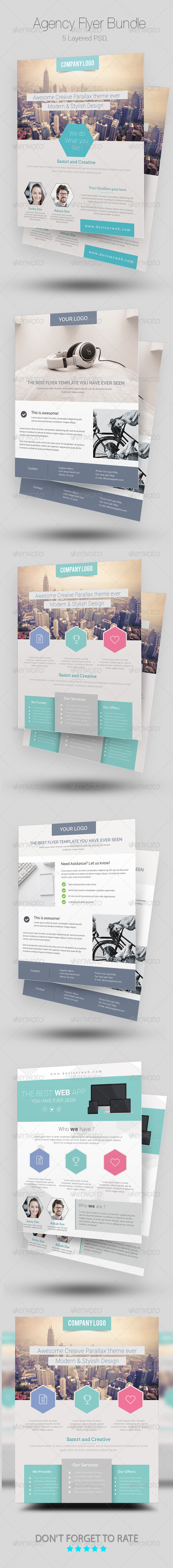 GraphicRiver Agency Business Flyer Bundle 8685595