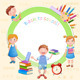 Back to School Illustration with Kids.  - GraphicRiver Item for Sale