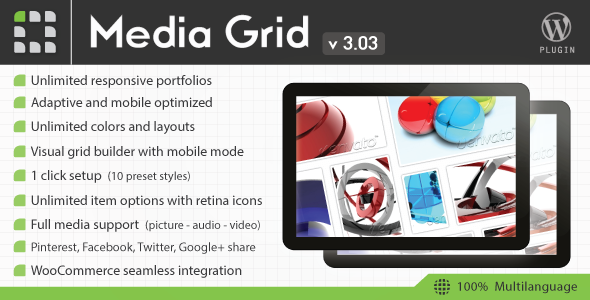 Media Grid - Wordpress Responsive Portfolio - CodeCanyon Item for Sale