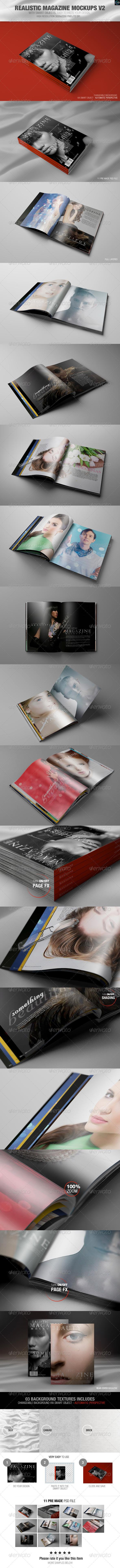 GraphicRiver Realistic Magazine Mockups V2 8685742
