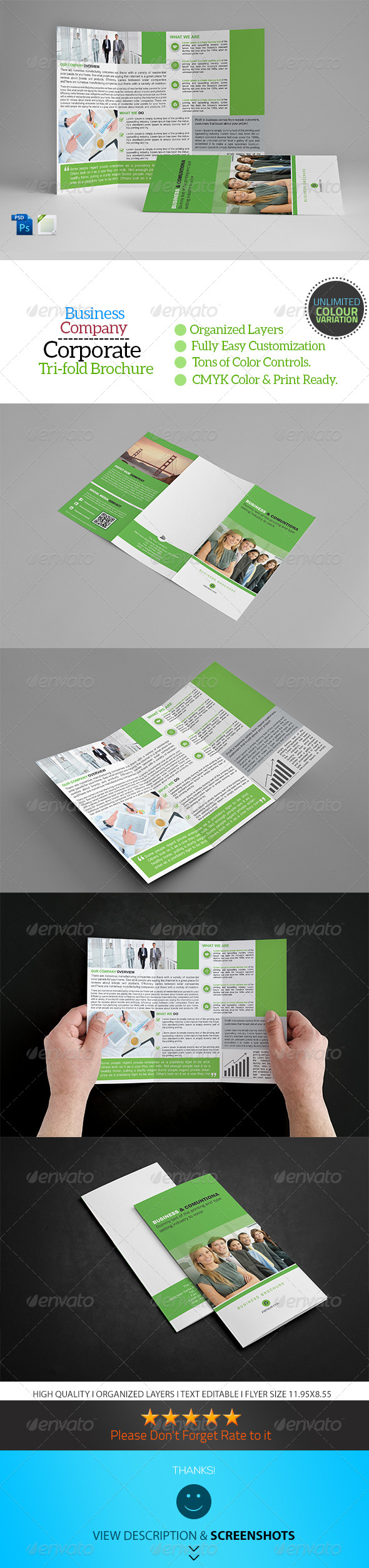 GraphicRiver A4 Trifold Business Brochure Template Vol13 8685803
