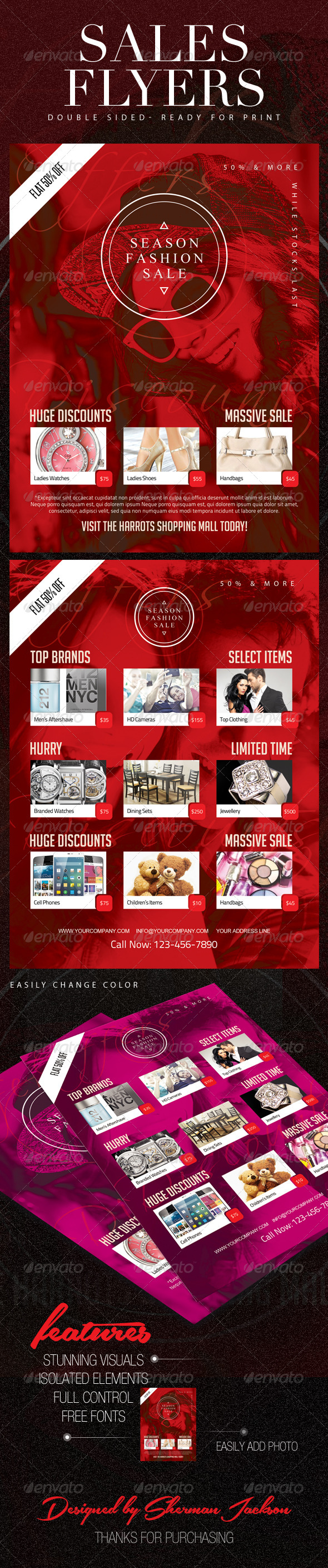 GraphicRiver Sales & Discount Shopping Flyers 8686038