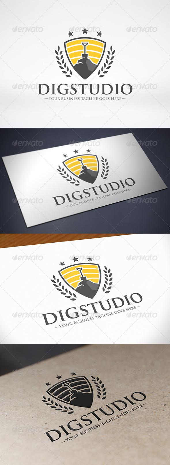 GraphicRiver Dig Studio Logo Template 8686385