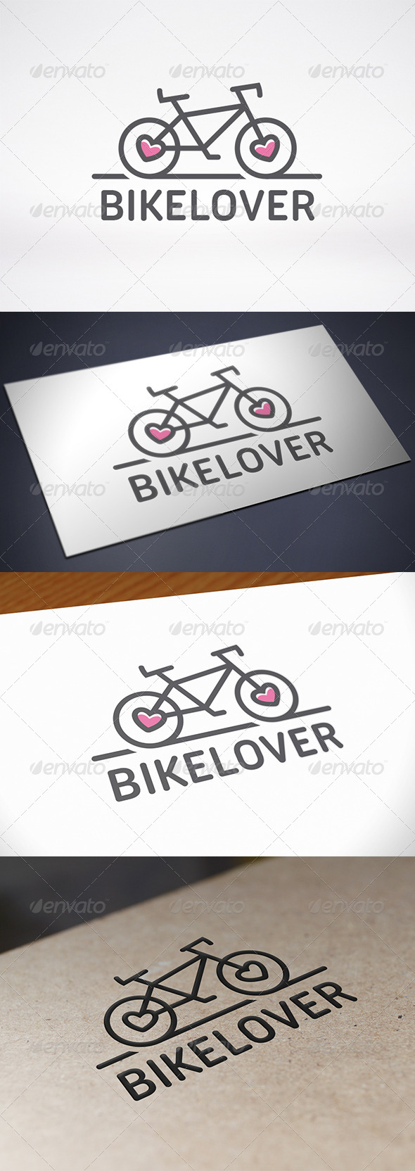 GraphicRiver Bike Love Logo Template 8686397
