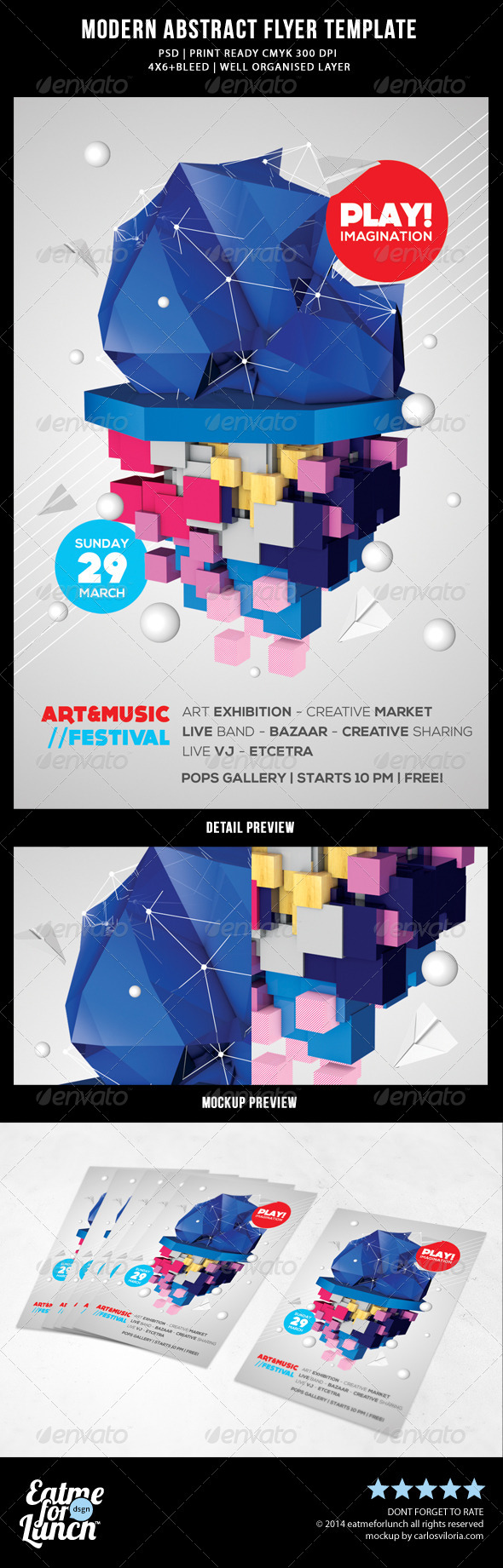 GraphicRiver Modern Abstract Flyer Templates 8686414