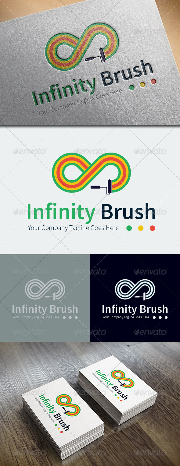 GraphicRiver Infinity Brush Logo Template 8686422