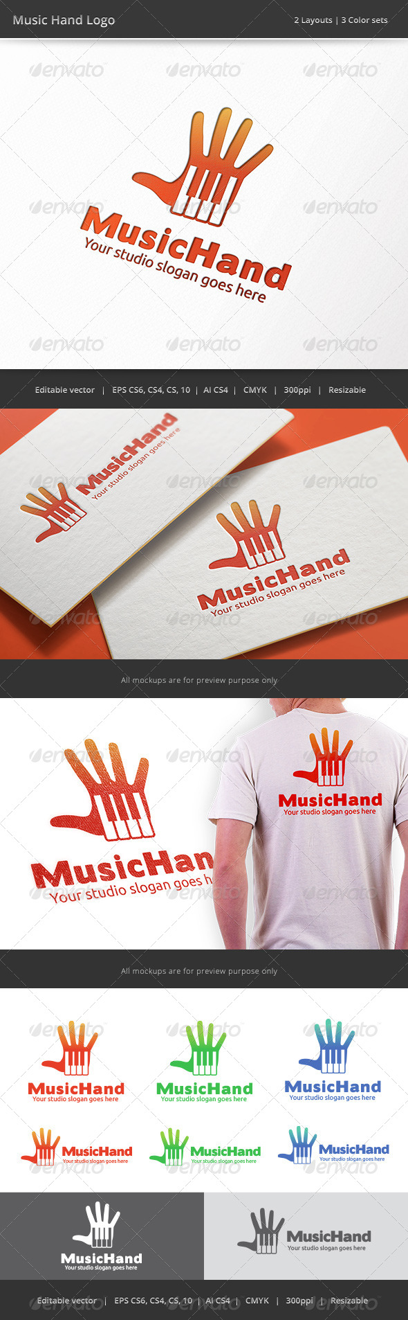 GraphicRiver Music Hand 8686944