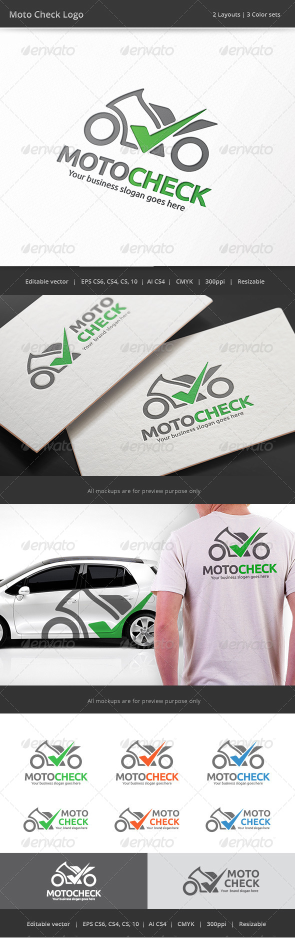 GraphicRiver Motorcycle Check Logo 8687008