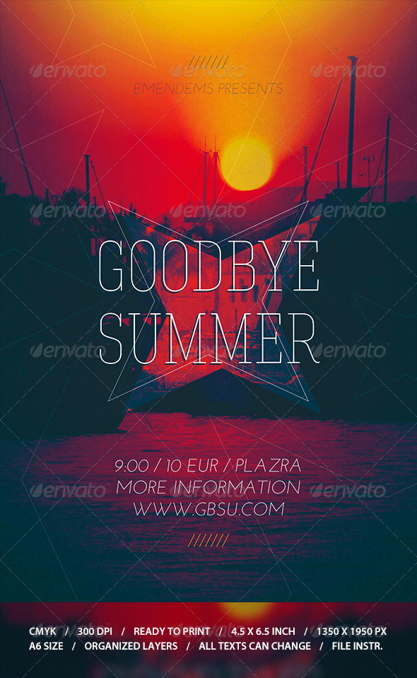 GraphicRiver Goodbye Summer Flyer Template 8687053