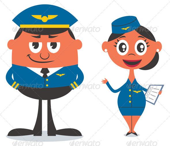 GraphicRiver Pilot and Air Hostess 8687098