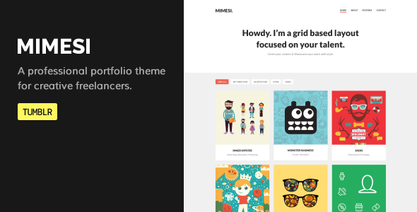 MIMESI - Creative Portfolio Theme for Tumblr - Portfolio Tumblr
