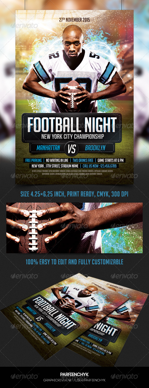 GraphicRiver Football Flyer Template 8687176