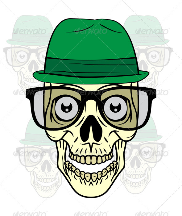 GraphicRiver Nerd Skull 8687229