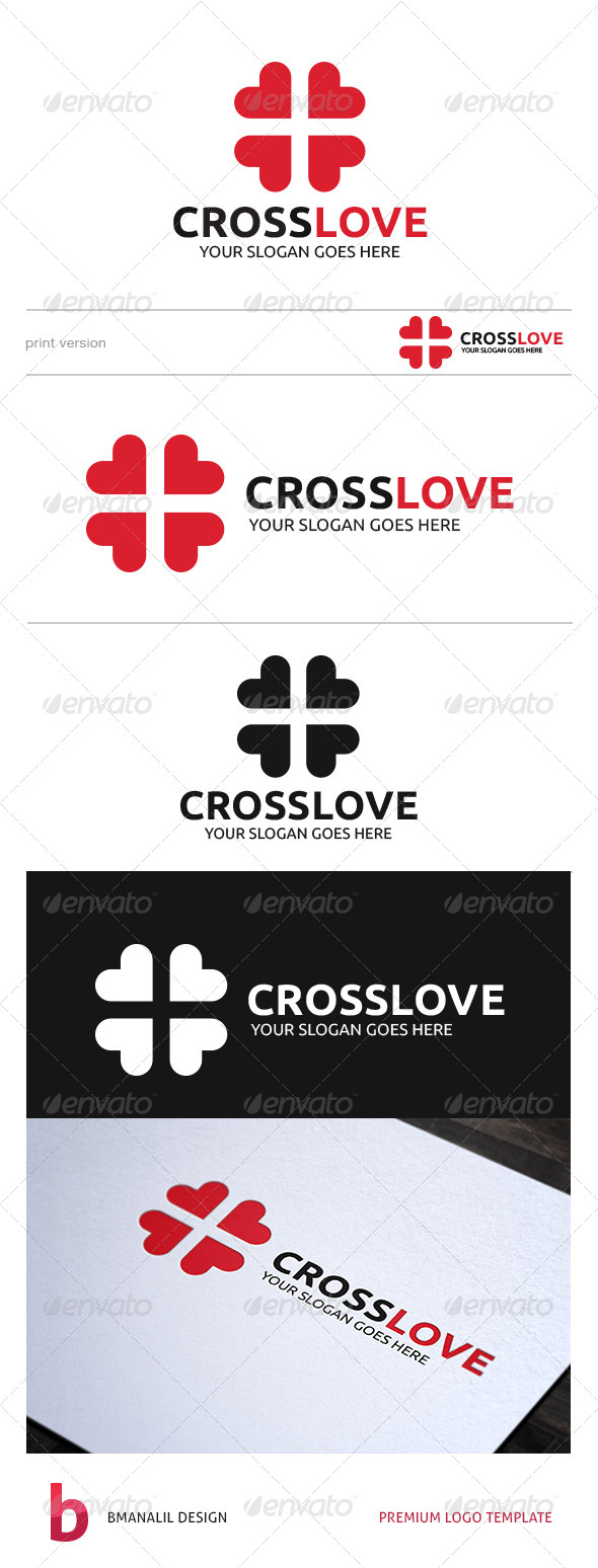 GraphicRiver Cross Love Logo 8687253